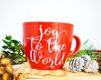 Christmas in July  Joy to the World Mug, Gift for Her, Christmas Gift, Gifts under 15, Christmas Mugs, mug, coffee lovers, Holiday Mugs
