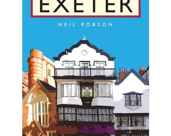 Exeter Mol's Coffee House Illustration - 40 x 30cm Art Print