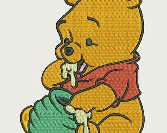 Baby pooh embroidery design