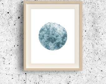 Minimalist Painting, Mercury watercolor art, Planet print, Planet wall decoor, Solar system collection, Abstract Watercolor, Planet Wall Art