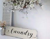 Rustic Laundry Sign, Laundry Room Decor, Laundry Room Sign, Farmhouse Decor