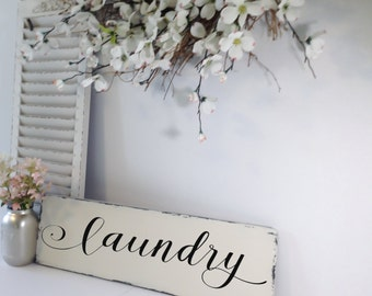 Rustic Laundry Sign, Laundry Room Decor, Laundry Room Sign, Farmhouse Decor