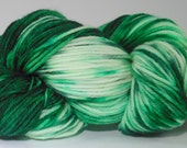 CLEARANCE! Indie Dyed Holiday Yarn,Hand Dyed Christmas Yarn,Christmas DK Yarn,Hand Dyed Holiday Yarn,Holiday Hand Dyed,Snowy Pines