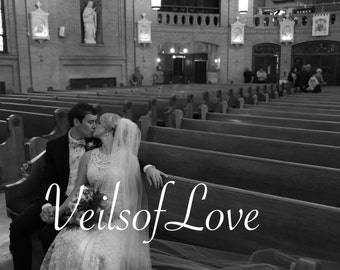 CATHEDRAL VEIL, bridal veil wedding veil, blush, ivory, chapel, sweet, royal, champagne color, traditional, classical veil, short veil white