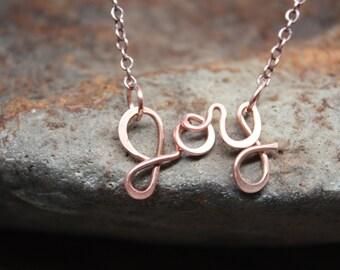 Joy Necklace, Handmade in Solid Copper