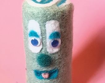Felted Swiss Roll Face