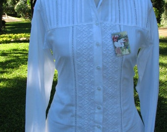 91219 WHITE SHIRT EMBROIDERED