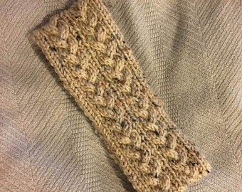Hand-Knit Cable Ear Warmer