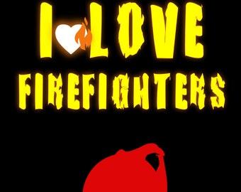 Sticker/sticker vinyl I LOVE FIREFIGHTER
