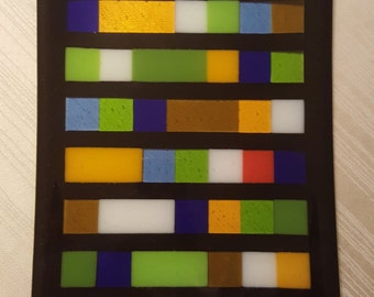 Fused Art Glass Plate 9 x 14
