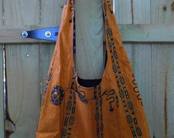 Hobo Sling Bag - Gold African
