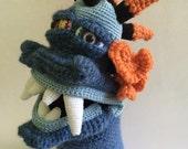 Crocheted Monster Hand Puppet - Leonard