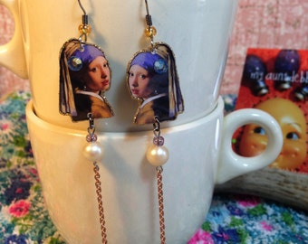 The Girl with the Pearl Earring Earrings Johannes Vermeer  Artist Painter Old Masters Dutch The Milkmaid