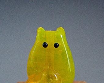 Cat Bead Handmade Lampwork Focal - Porter FatCat