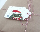 ON SALE  Monster Christmas Gift Tags Instant Download