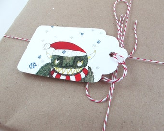 Gift Tags: Monster Christmas Set [Instant Download]