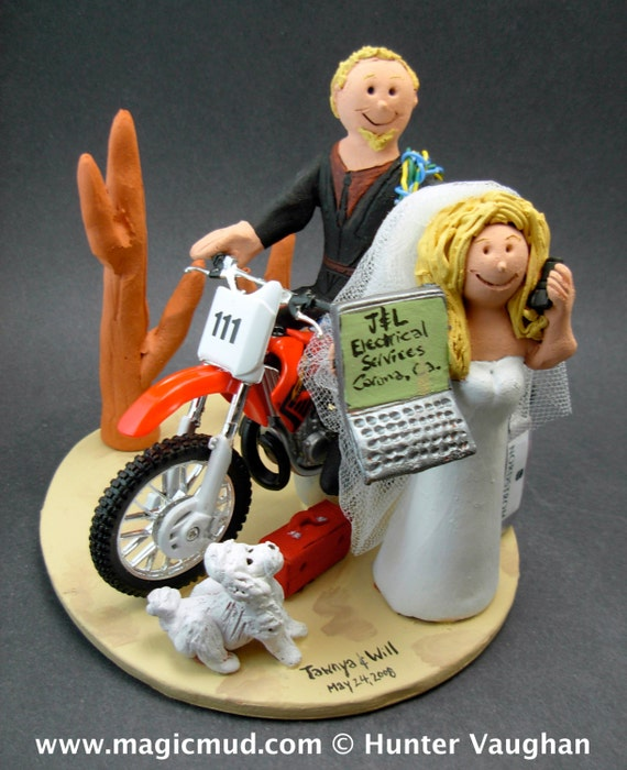 dirt bike wedding cake toppers honda dirt bike wedding cake topper anniversary gift for 13535