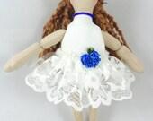 Ballerina Doll in White Tutu - Kids Toy Doll - Art Doll