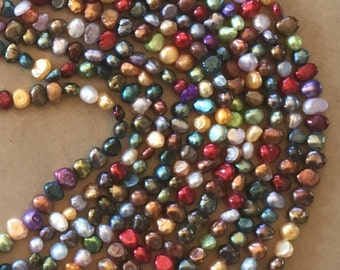 Multicolored Freshwater Pearls  (Item # 5083)