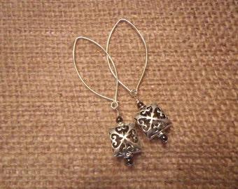 Sterling Silver Filagree Earrings