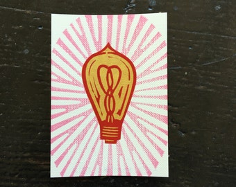 Lightbulb Stamp ACEO