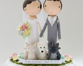 custom wedding cake topper - order for - JESSICASAVAGE