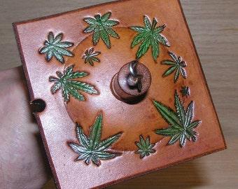 Viking Santa Drop Spindle ( EDS 0847) Leather whorle