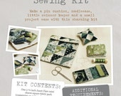 Sewing Kit - Fabric and Pattern Kit - Create your own beautiful sewing kit with Janet Clare's unique 'The Wordsmith' Moda fabric