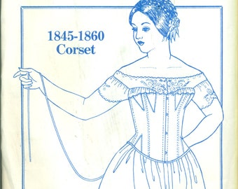CORSET Past Patterns #708 VICTORIAN 1845-1860 FASHION ©1985