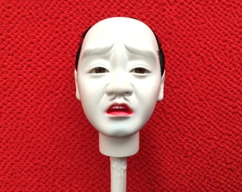 Japanese Doll Head - Hina Matsuri - Japanese Doll Festival - Man's Head - Vintage Doll Head D11-35
