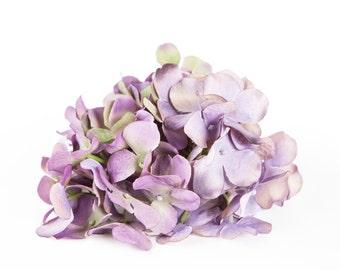 One Hydrangea Head - 70 Hydrangea Petals in Antique Lavender - Artificial Flower Hydrangeas - ITEM 0831