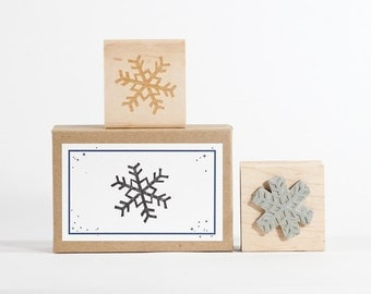 Snowflake Rubber Stamp Frozen Winter Holidays