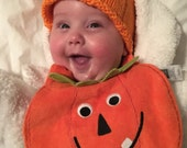 Pumpkin Hat - Pregnancy and Newborn Magazine Feature-newborn knit hat-boy/girl photo prop