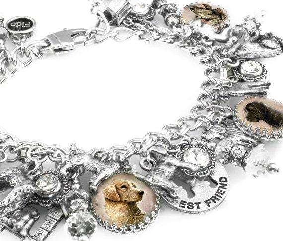 Dog Jewelry, Dog Charm Bracelet, Dog Bracelet, Gifts for Dog Lovers, Dog Charms
