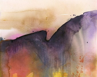 Introspection No.16 ... Original Abstract Watercolor painting by Kathy Morton Stanion EBSQ