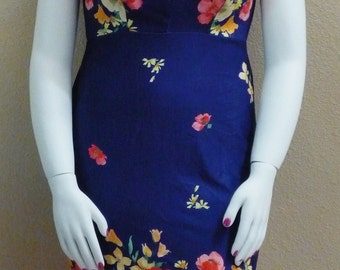 Navy and White - Pin Up Dress - Vintage inspired - Rockabilly Clothing - Wiggle Dress - Plus Size Dress - Plus Size Fashion -  XL XXL