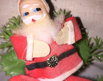Vintage Japan Santa Ornament