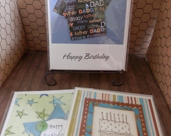 Birthday Masculine 3 Card Set Sale Blues Browns