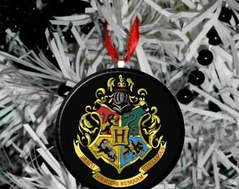 "Harry Potter Hogwarts Crest Image Christmas Tree 2.25"" Ornament"