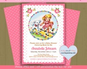 Mary Had a Little lamb baby shower invitation #P-84- Nursery Rhyme theme - you can choose either personalized text Jpeg OR editable text PDF