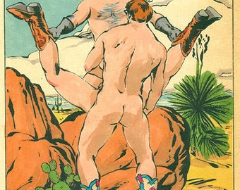 SALE Masked Stranger Signed Gay Art Male Nude Fine Art Print by Felix dEon - Print