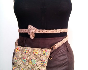 Eloise fanny pack and crossbody bag in soft colors