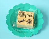4 pc travel stamp set