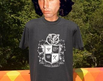 vintage 90s t-shirt NORTH BUNCOMBE middle school preppy drama law black tee shirt Medium wnc north carolina