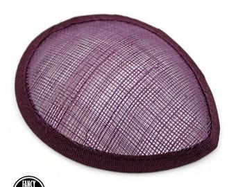 1 - Burgundy - Teardrop Hat Base - Sinamay Straw - Fascinator - Hat Foundation - Millinery