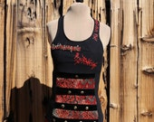 Remove-Before-Play tank with double lacing in back : XS - S