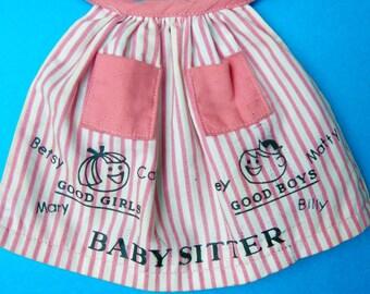 Vintage Barbie Baby Sitter Apron - 1960s