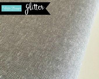 Metallic fabric, Silver fabric, Gorgeous Sparkle Fabric, Essex Linen, Apparel, Wedding fabric, Robert Kaufman, Metallic Essex in Fog