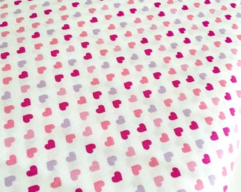 SALE Fabric, Japanese fabric, Sevenberry fabric, Heart fabric, Pink fabric, Fabric by the Yard, Mini Hearts in Sweet, Choose your cut