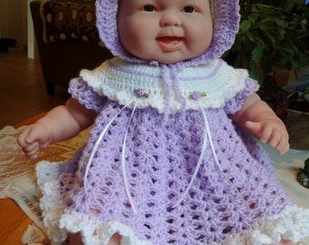 RESERVED lighthouseogdrn Crochet outfit 19 20 inch Berenguer Lots to Cuddle Chubby Doll